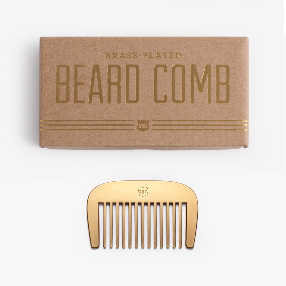 Image of Brass Beard Comb by Men's Society - 10% off