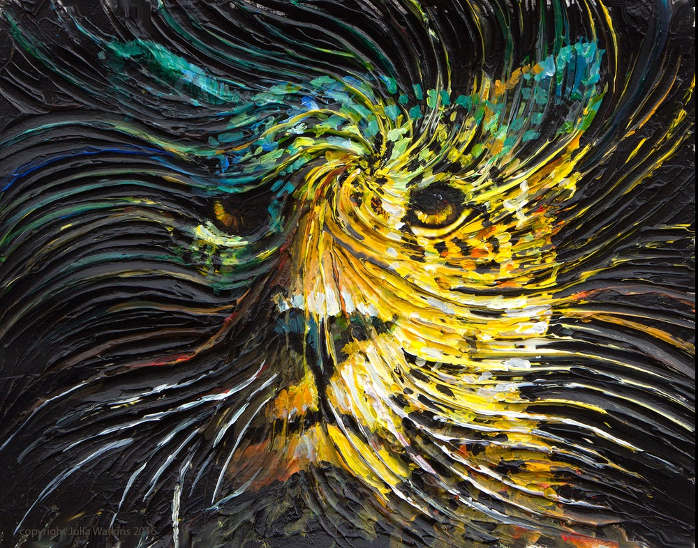 Image of Jaguar Spirit Energy Painting - Giclee Print