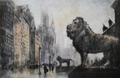 "Image of ""Rainy Day"", Michigan Avenue, Chicago"