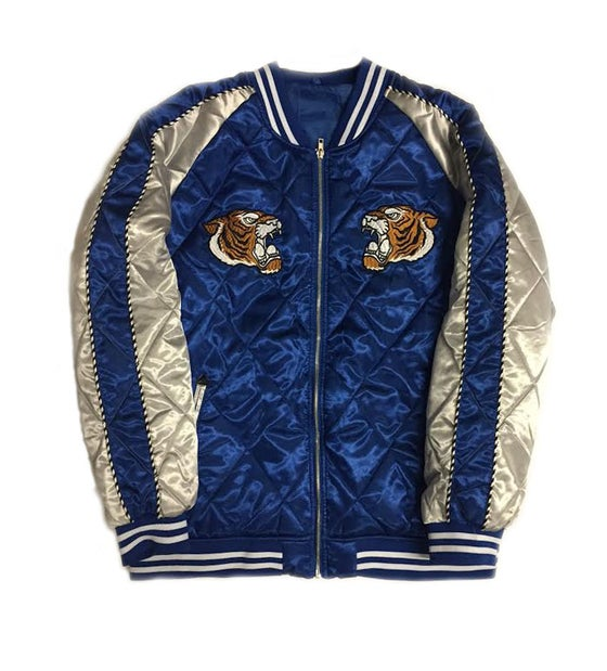 """Image of Quilted Souvenir Jacket """"Blue"""""""