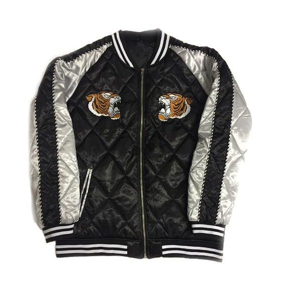 """Image of Quilted Souvenir Jacket """"Black"""""""