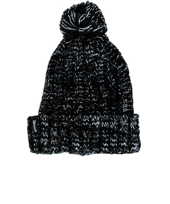 Image of Black & White Pom Pom Beanie