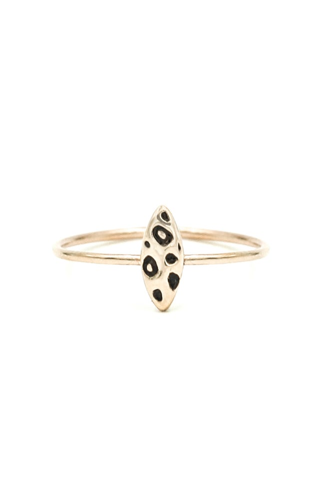 Image of LEOPARD CATEYE RING