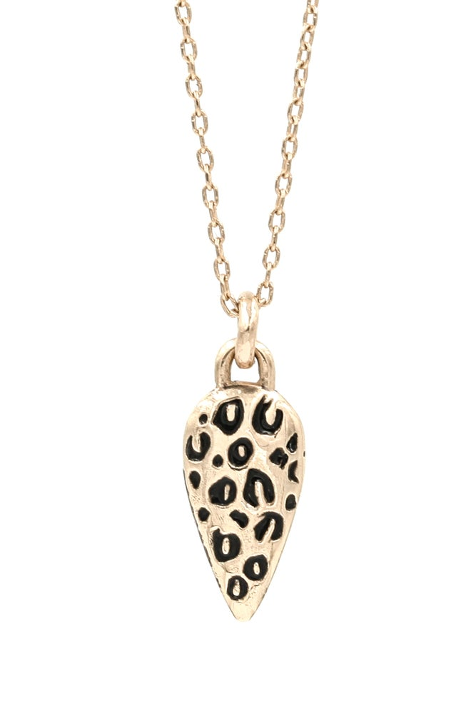 Image of LEOPARD DROP NECKLACE