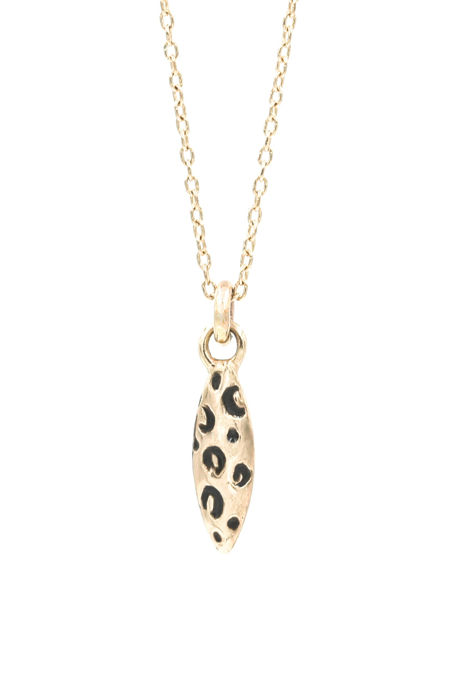 Image of LEOPARD NAVETTE NECKLACE