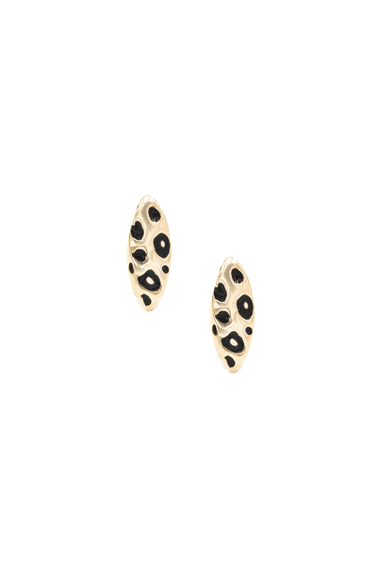 Image of LEOPARD CATEYE STUDS