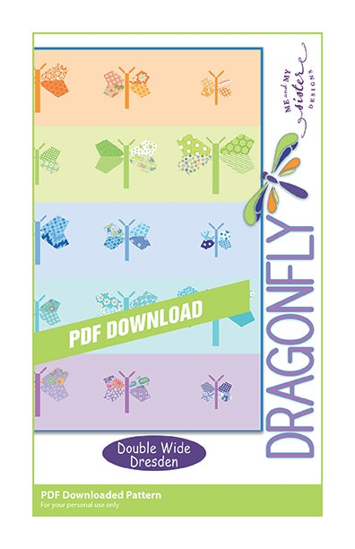 Image of Dragonfly - Double Wide Dresden PDF pattern