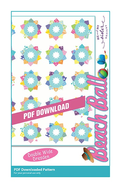 Image of BeachBall - Double Wide Dresden PDF pattern
