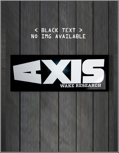 Image of Axis Vinyl Decal (Black & White)