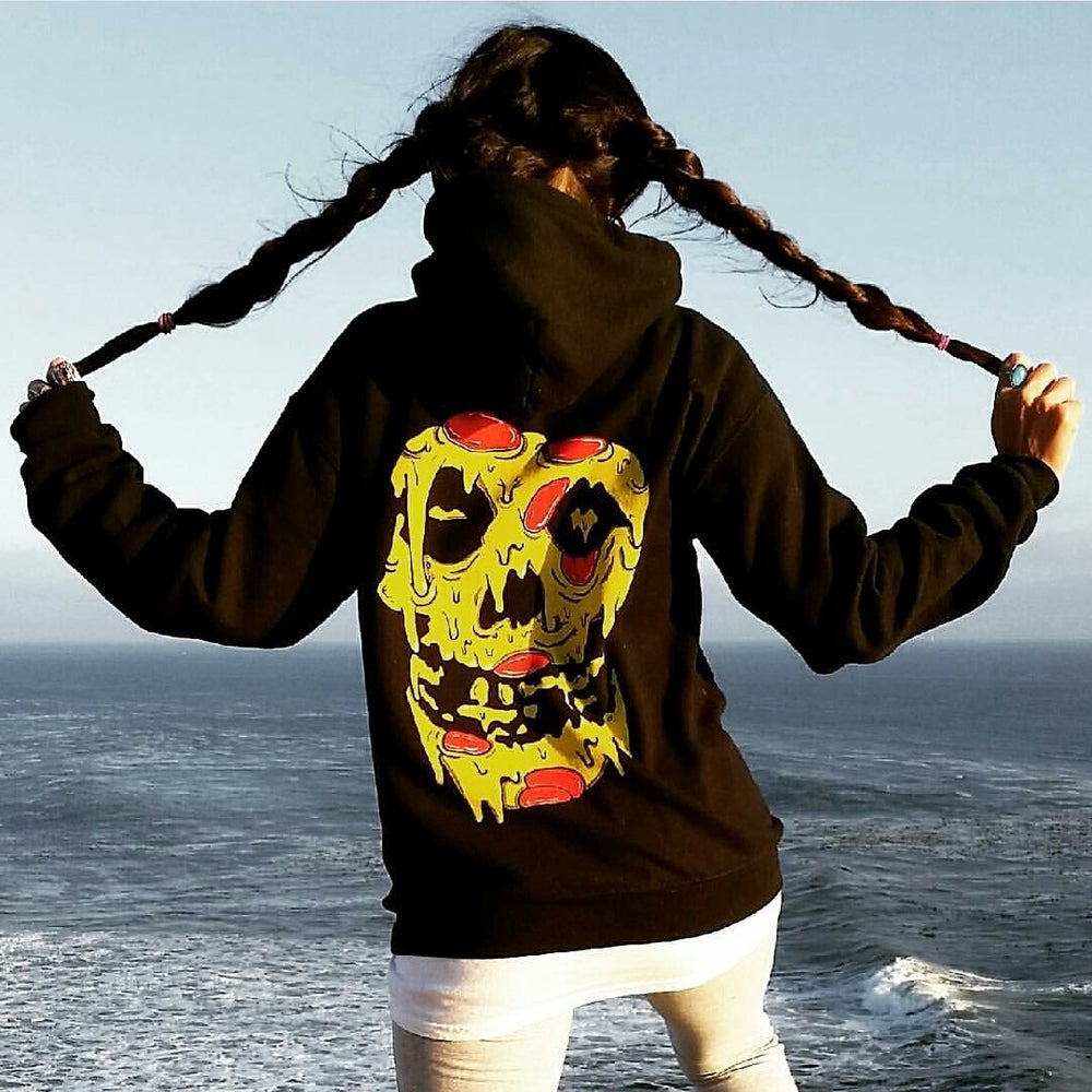 Image of DELADESO X PIZZABOYZZZ PIZZA REAPER HOODIE