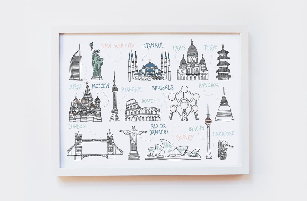 Image of Around the World Art Print