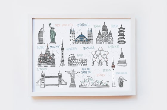 Image of Around the World Art Print