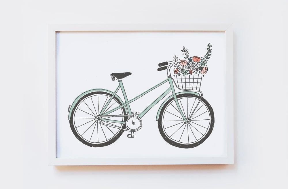 Image of Flower Bike Art Print