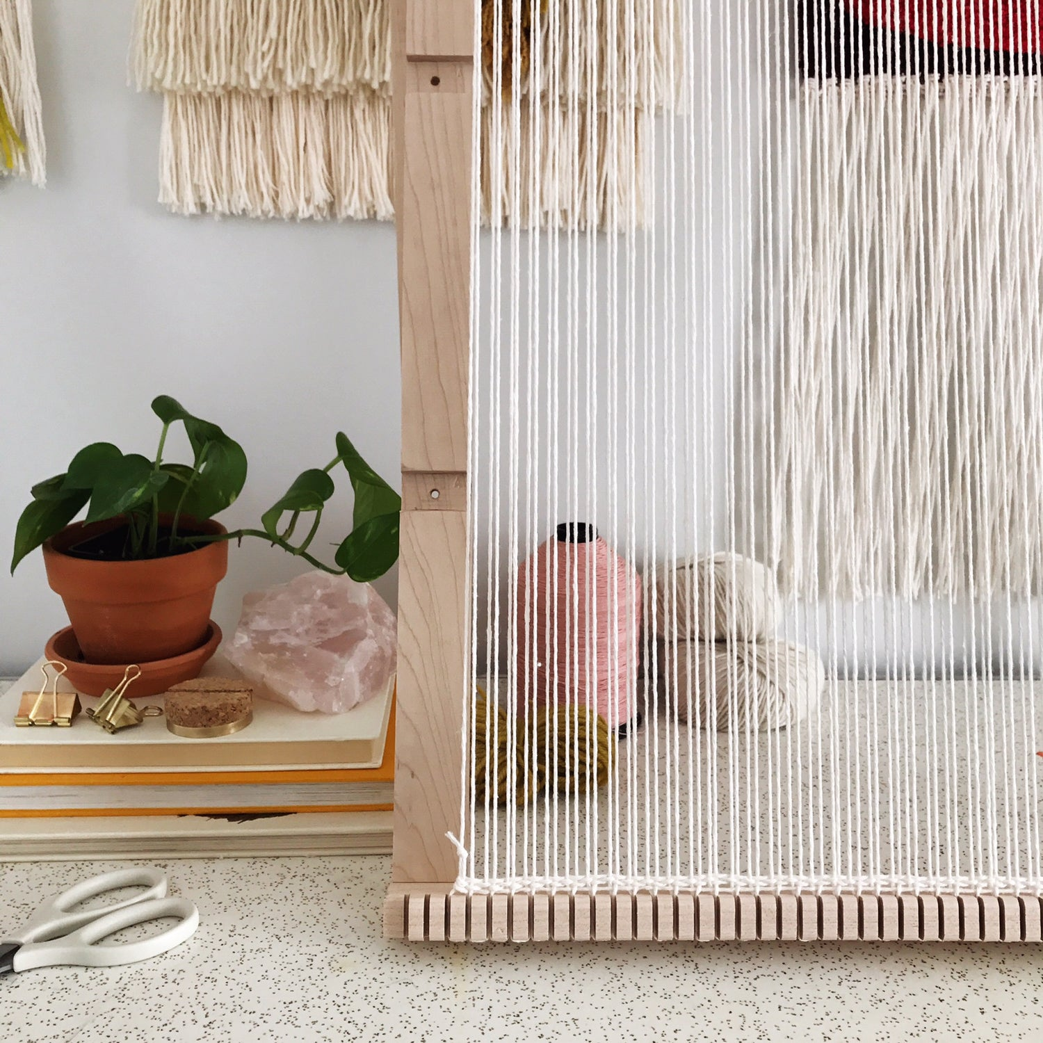 """Image of Large Adjustable Weaving Loom with Sword 24"""" x 32"""""""