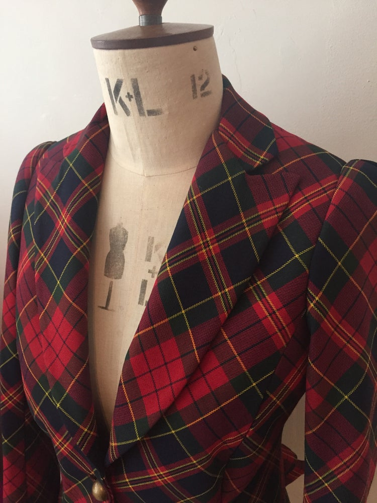 Image of Tartan Carmen jacket