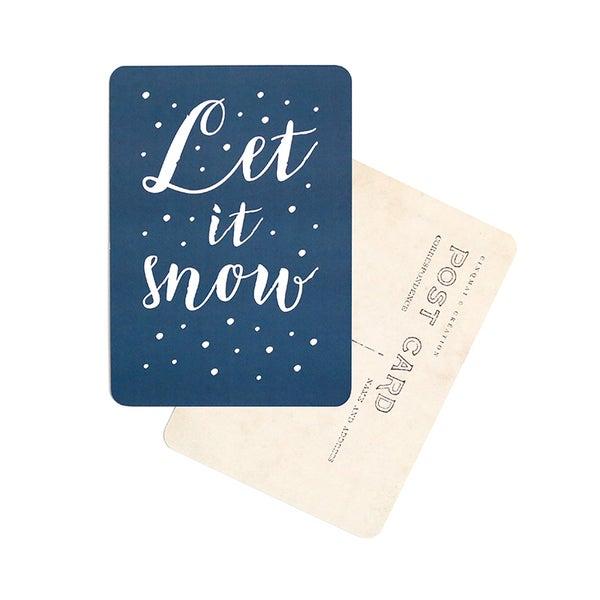 Image of Carte Postale LET IT SNOW / BLEU NUIT