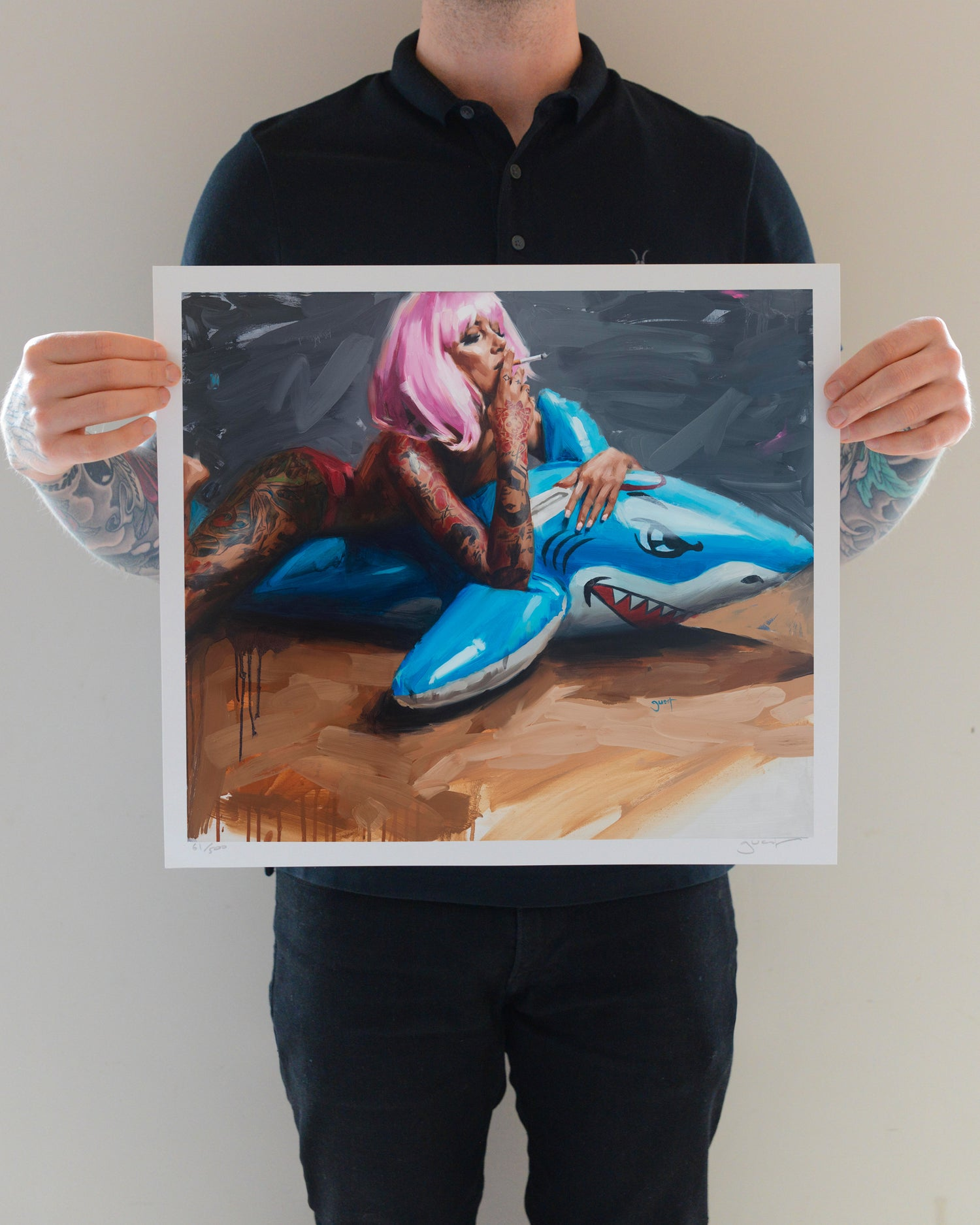Image of Limited Edition 'SHARK!' Lithograph Print.
