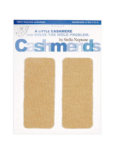 Image of Iron-On Cashmere Elbow Patches - Camel