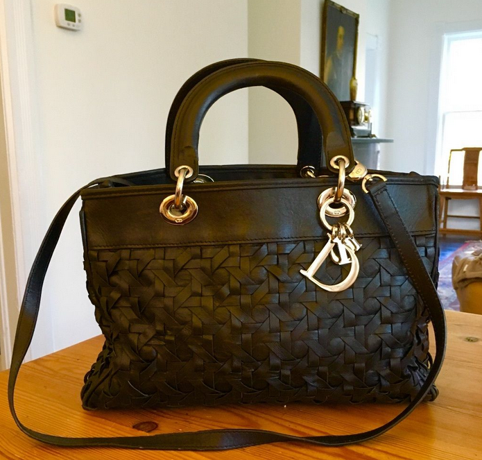 Image of VINTAGE CHRISTIAN DIOR LADY DIOR AVENUE HANDBAG PURSE
