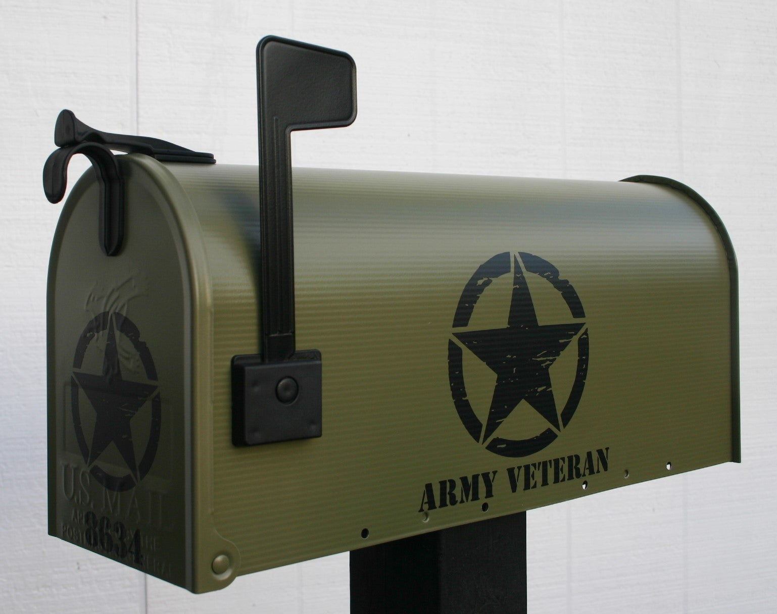 Thebusbox Army Green Military Themed Mailbox By