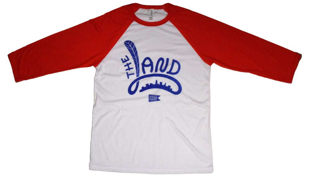 Image of The Land 3/4 Feather Sleeve Baseball Tee