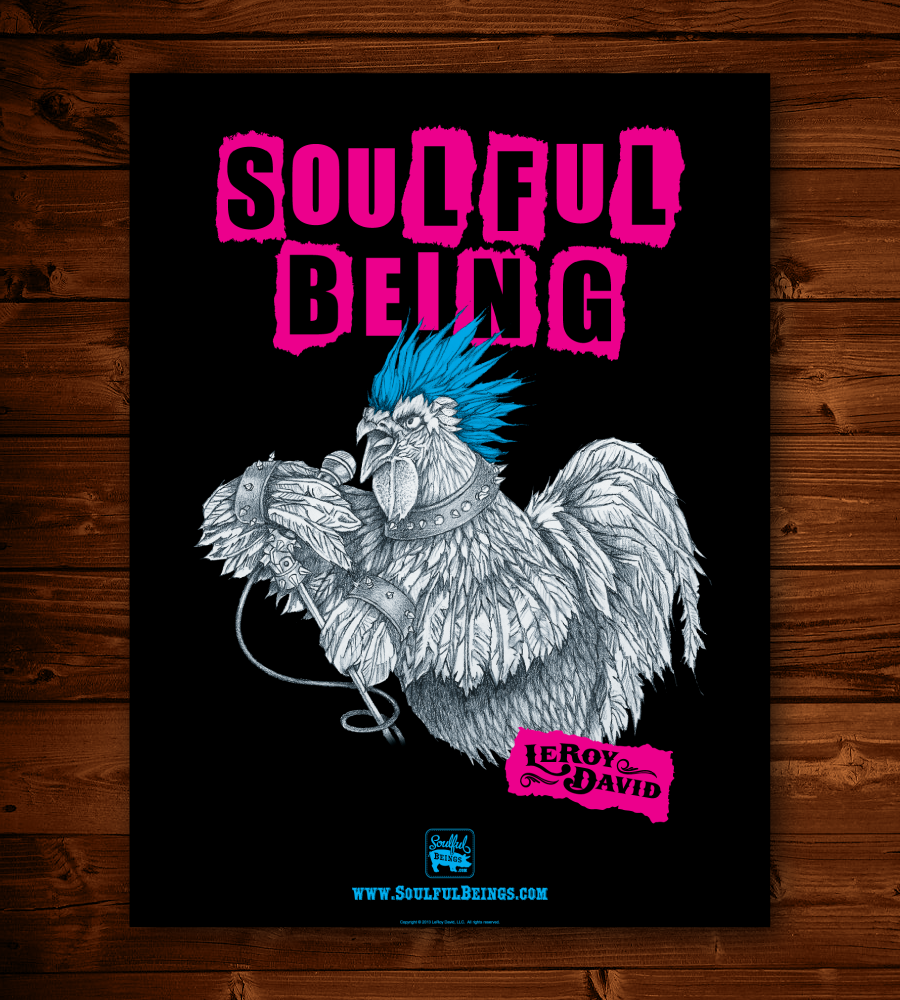 """Image of Punk Rooster 18"""" x 24"""" Poster"""
