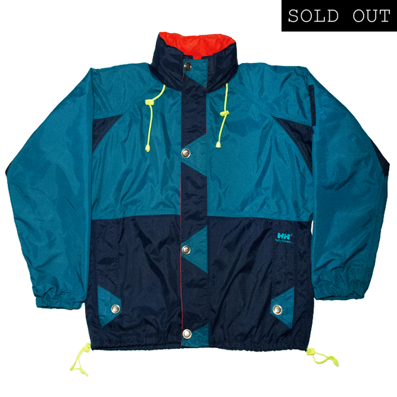 Image of Helly Hansen Twins Sail 90s Vintage Windbreaker Green/Blue