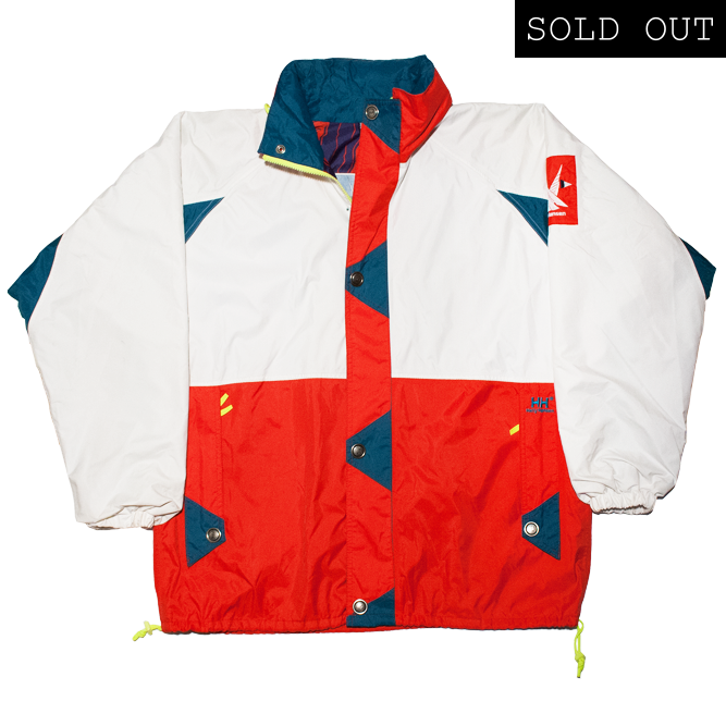 Image of Helly Hansen Twins Sail 90s Vintage Windbreaker White/Red