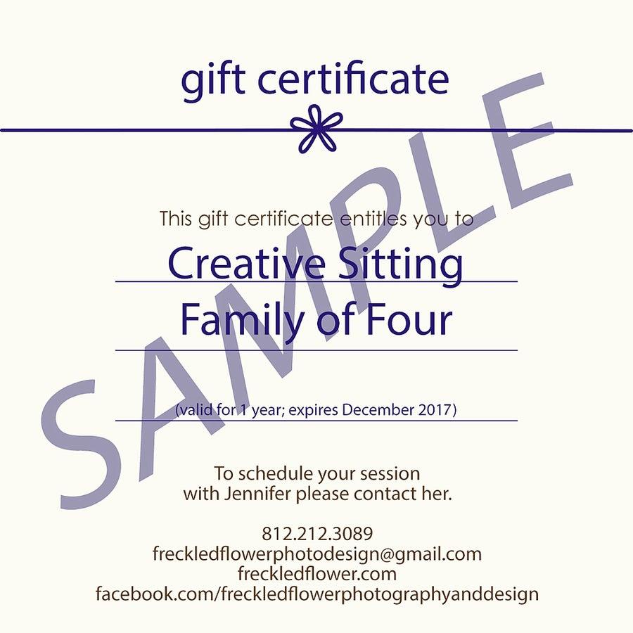 Image of Gift Certificates - Full Family Session Fee
