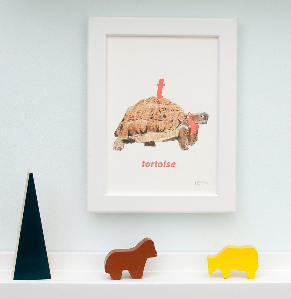 Image of T - Tortoise Letter Print
