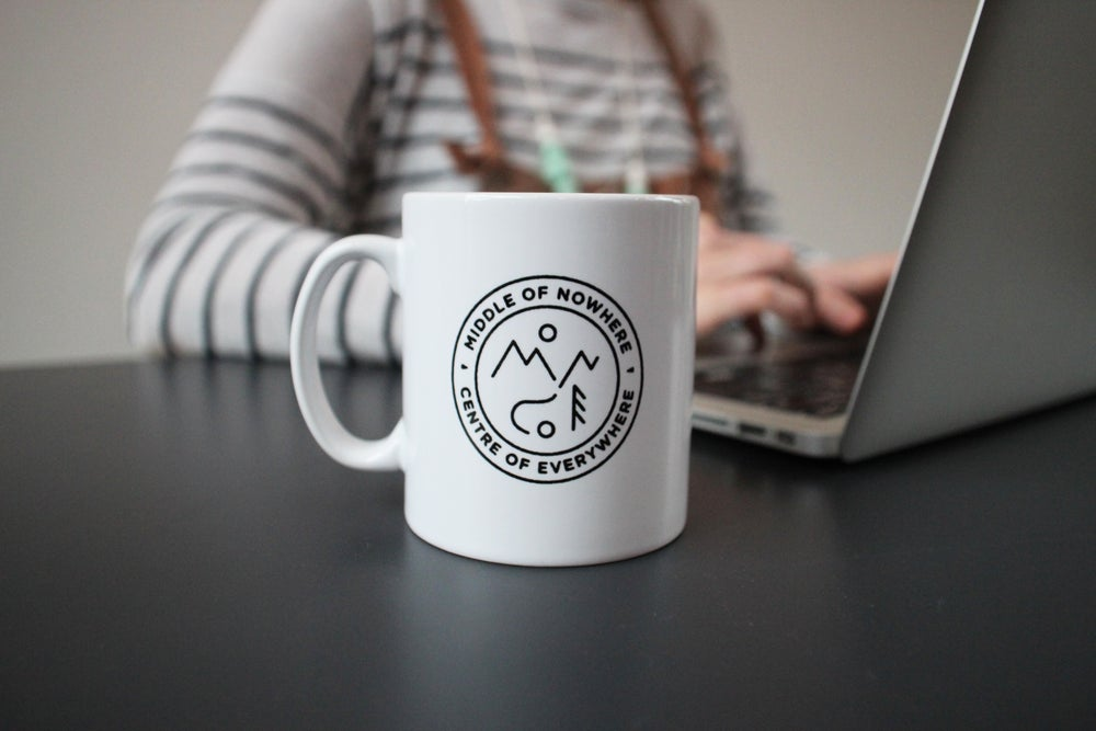 Image of Middle of Nowhere Centre of Everywhere Mug (Black)