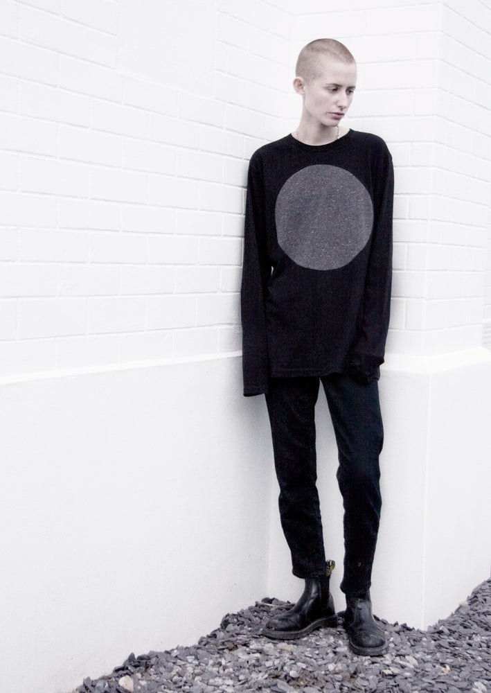 Image of GREY LABEL LUNAR LONG SLEEVE T-SHIRT (BLACK)