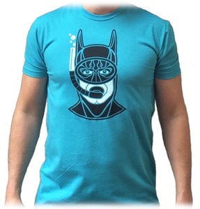 "Image of Snorkeling Batman - ""Bondi Blue"""