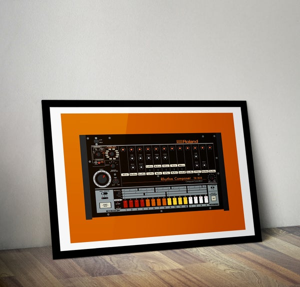 Image of Roland TR-808 (A2) unframed