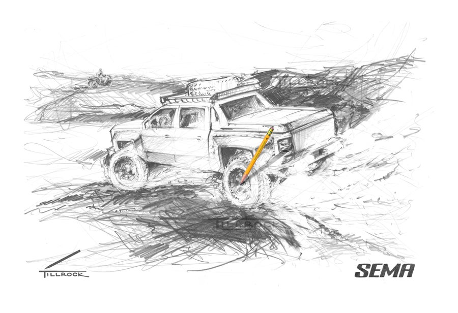 "Image of ""4x4 Truck"" SEMA Show Print"