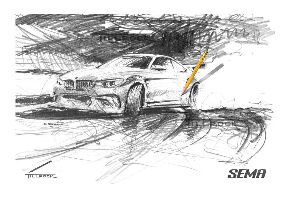 "Image of ""Drifting BMW"" SEMA Show Print"
