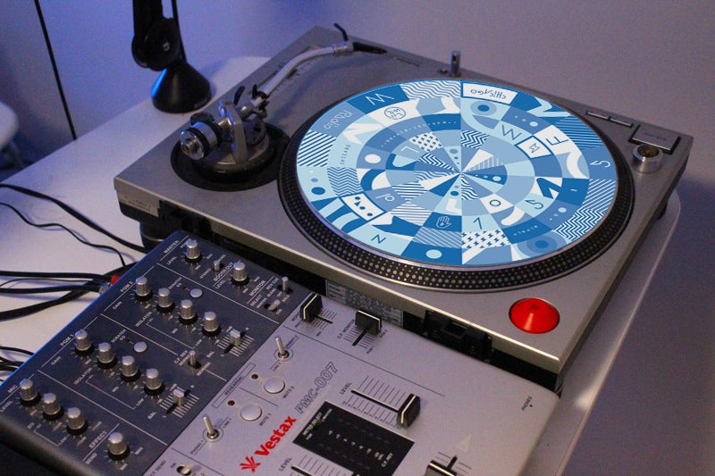 Image of Turntable Slipmats and 45 holders