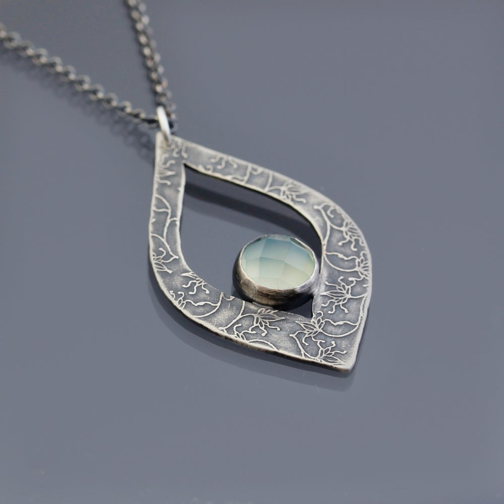 Image of Sterling Silver and Chalcedony Necklace