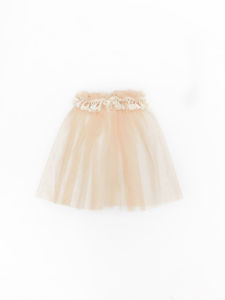 Image of sheer boho tutu in 'hazelnut'