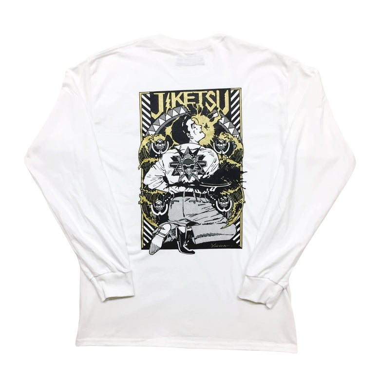 Image of 自決Ⅲ - JIKETSU III (Suicide) Gold-Glitter ver.<br>L/S Tshirt