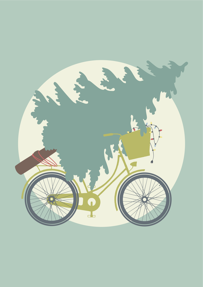 Image of Christmas Tree Bicycle