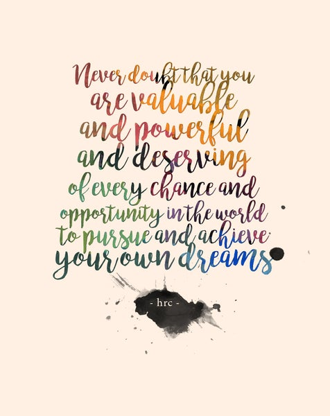 Image of HRC Rainbow Quote Print