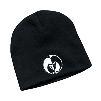 Image of White on Black Legacy Seal Beanie
