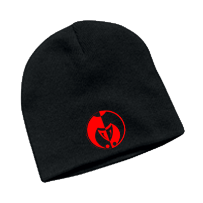 Image of Red on Black Legacy Seal Beanie