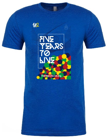 Image of Five Years To Live unisex tee ROYAL BLUE