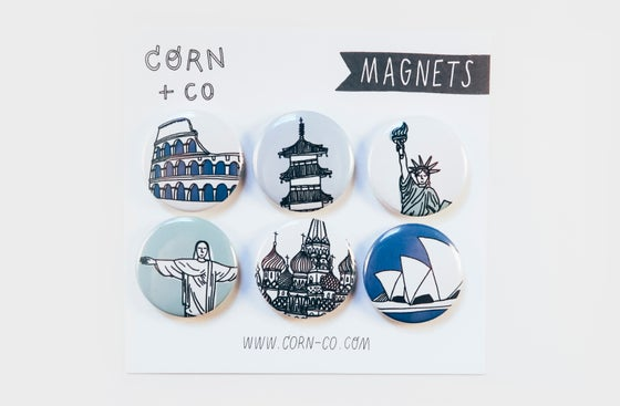 Image of Around the World Magnet Set
