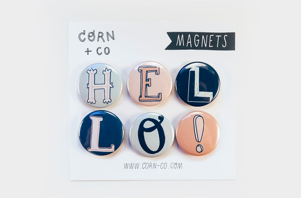 Image of HELLO Magnet Set
