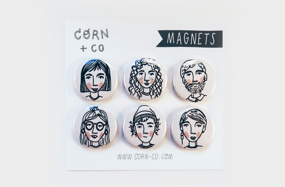 Image of People Magnet Set