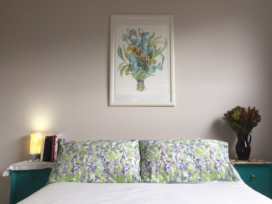 Image of Purple Coral Pea Pillowcase