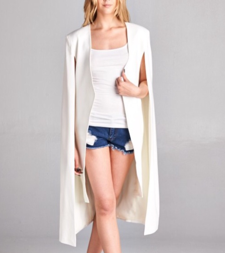 Image of Long cape blazer